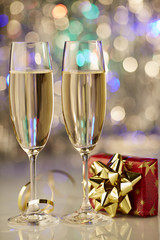 champagne romantic christmas new year