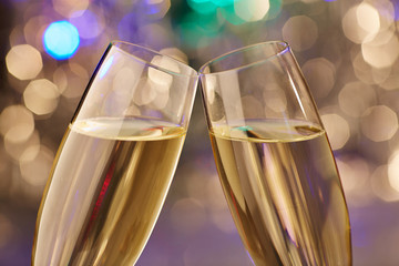champagne new year fun glas