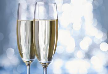 champagne glas white fun new year