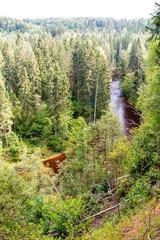 panoramic autumn landscape view