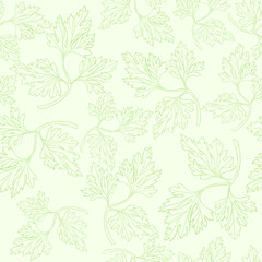 Seamless pattern with  parsley