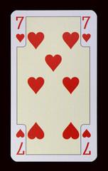 Spielkarten der Ladys - Herz Sieben