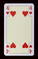 Spielkarten der Ladys - Herz Vier