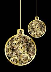 steampunk christmas balls
