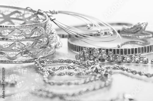 Silver jewelry - 72580329