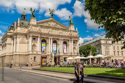 Leinwanddruck Bild Academic Opera and Ballet Theatre in Lviv, Ukraine.