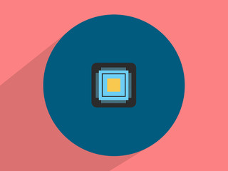 Microchip  ,Flat design style