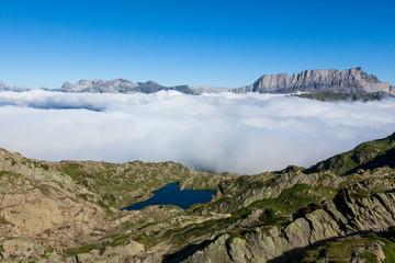 Lac Brévent - Brevent lake in Chamonix Mont-Blanc - France