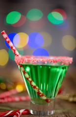Christmas Emerald Green Cocktail