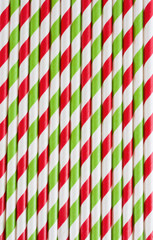 Background or pattern of striped drinking paper straws