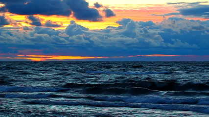 Lake Superior Sunset Waves