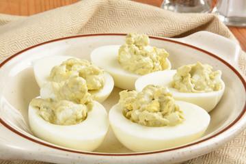Egg salad appetizers