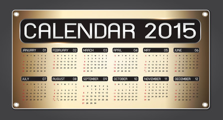 calendar 2015 Fiber Background