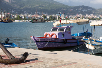 Fishing Boats in the port of Alanya . Turkey
