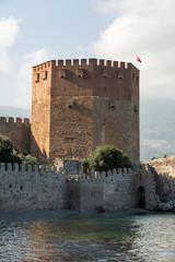 Kizil Kule or Red Tower in Alanya, Antalya, Turkey