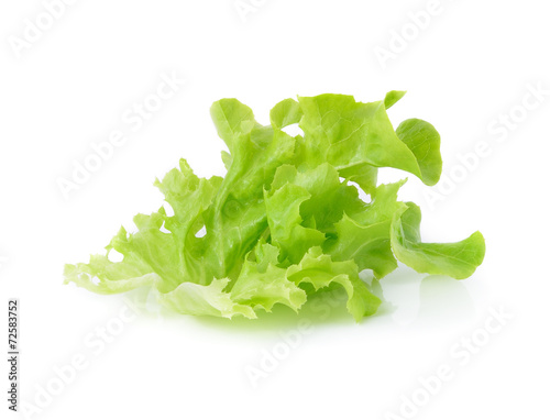 Foto op Plexiglas Kruidenierswinkel Green leaves lettuce isolated on white background