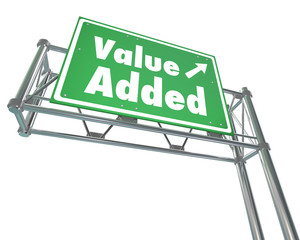 Value Added Freeway Road Sign Additional Bonus Special Supplemen