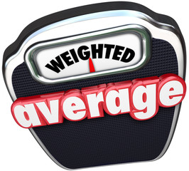 Weighted Average 3d Words Scale Medium Standard Common Typical