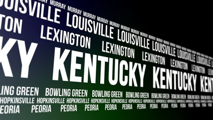 Kentucky State and Major Cities Scrolling Banner