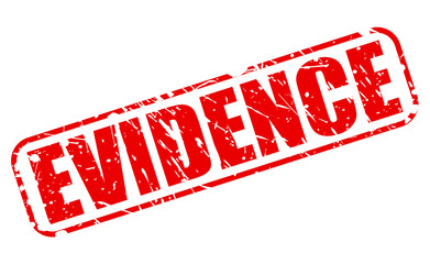 Evidence red stamp text