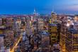 New York City midtown Skyline at night