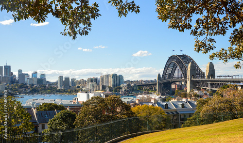 Foto op Canvas Australië Panoramic Lookout of Sydney Harbour Bridge