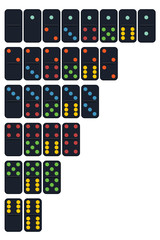 Vector of Domino set in trend colour