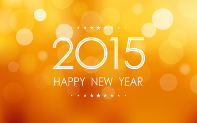 happy new year 2015 in bokeh and lens flare pattern background