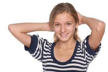 Adorable teen girl