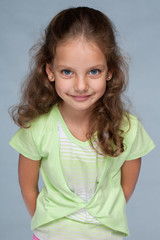 Pretty little girl with flowing hair