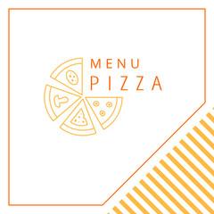 Design menu. Pizza.