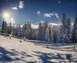 Beautiful winter landscape in the Carpathian mountains. Ukraine,