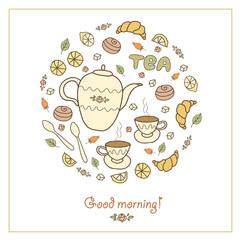 Tea, coffee and sweets