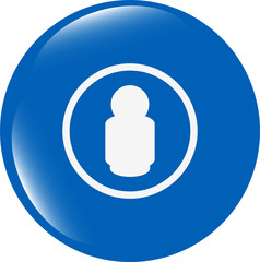 people silhouette web icon app button isolated on white