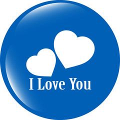 web button with heart sign. Round shapes icon