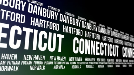 Connecticut State and Major Cities Scrolling Banner