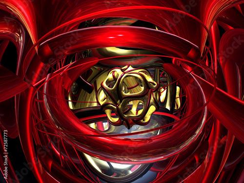 canvas print picture Fraktal 3D