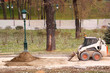Small truck in park