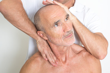 physiotherapy with an elder patient
