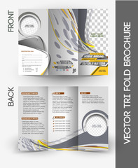 Horse Riding Brochure Tri-Fold Mock up  Design