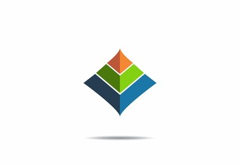 3D pyramid, house,building, geometry, vector, logo