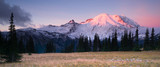 Smokey Sunrise Mt Rainier National Park Cascade Volcanic Arc - 72588963