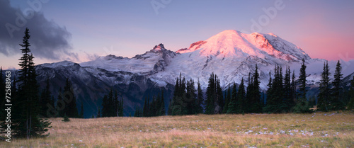 Smokey Sunrise Mt Rainier National Park Cascade Volcanic Arc - 72588963