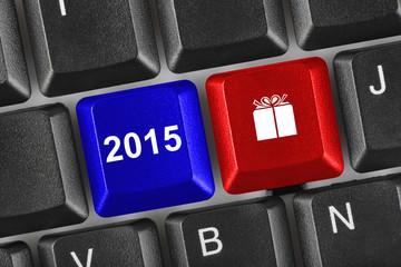 Computer keyboard with 2015 keys