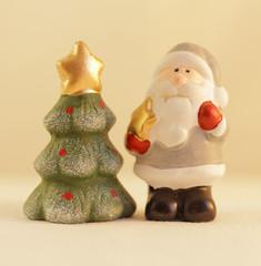 Santa claus and tree