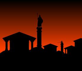 ancient city. vector illustration