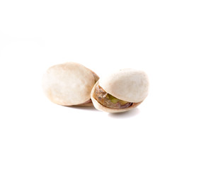 pistachios nuts isolated on white