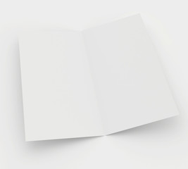 blank sheet of paper isolated on gray background.