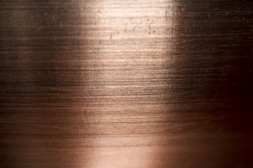 Copper metal scratched background texture