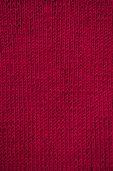 Knitted red canvas pattern